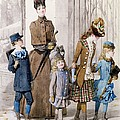 Mother And Children In Walking Dress  by Jules David
