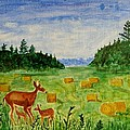 Mother Deer And Kids by Sonali Gangane
