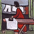 Mother  Ironing by Peter  McPartlin