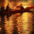 Motion Blur Photo Of Bangkok Local Speed Boat On Chao Phra Ya Ri by Chira Juti