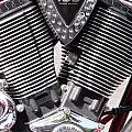 Motorcycle Engine Chrome by Cherokee Blue