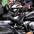 Motorcycles - Harleys And Hondas by Travis Truelove