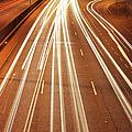 Motorway Light Trails by Richard Newstead