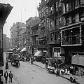 Mott Street In New York Citys Chinatown by Everett