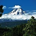 Mount Hood Framed By Trees, Oregon, Usa by John Doornkamp
