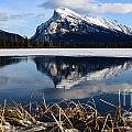 Mount Rundle In Winter by Vivian Christopher