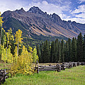 Mount Sneffels And Fence by Greg Nyquist