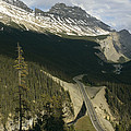 Mountain Peaks Along The Icefields by Michael S. Lewis