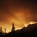 Mountain Sunset by Bruce M Herman and Photo Researchers