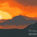 Mountain Sunset by Pixel  Chimp