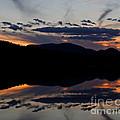 Mountain Sunset Reflection by Lloyd Alexander