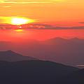 Mountain Sunset by Roupen  Baker