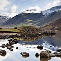 Mountains And Lake At Lake District by John Short