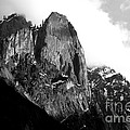 Mountains Of Yosemite . 7d6167 . Black And White by Wingsdomain Art and Photography