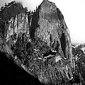 Mountains Of Yosemite . 7d6167 . Vertical Cut . Black And White by Wingsdomain Art and Photography