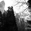 Mountains Of Yosemite . 7d6213 . Black And White by Wingsdomain Art and Photography