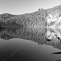 Mowich Lake Mono Print by Michael Merry