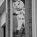 Mr Met In Black And White by Rob Hans
