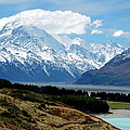 Mt Cook Across Lake Pukaki by Laurel Talabere