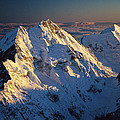 Mt Cook Or Aoraki And Mt Tasman, Aerial by Colin Monteath