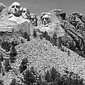 Mt. Rushmore Full View In Black And White by Living Color Photography Lorraine Lynch
