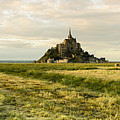 Mt Saint Michel At Sunset by Berthold Trenkel