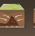 Mud Volcano Formation, Artwork by Claus Lunau