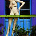 Mujer En Balcon by Adrian Rios Acevedo