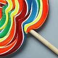 Multicoloured Lollipop, Close-up by Jeffrey Hamilton