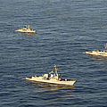 Multinational Navy Ships Move by Stocktrek Images
