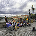 Musicians On The Charles Bridge - Prague by Madeline Ellis