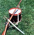 Musket Sword And Drum by Bill Wassmann