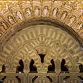 Muslim Arch With Christian Reliefs In Mezquita by Artur Bogacki