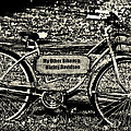My Other Bike Is A Harley Davidson In Sepia by Bill Cannon