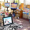 My Studio And Paintings by Phyllis Kaltenbach