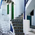 Mykonos Stairs by Rebecca Margraf