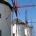 Mykonos Windmills by Carla Parris