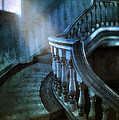 Mysterious Stairway In Old Mansion by Jill Battaglia