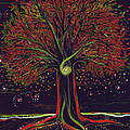 Mystic Spiral Tree Red By Jrr by First Star Art