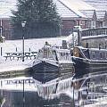 Narrowboats At The Boat Inn by Yhun Suarez