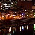 Nashville River Front By Night 1 by Douglas Barnett