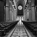 National Cathedral Interior Bw by Mike Nellums