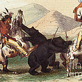 Native American Indian Bear Hunt, 19th by Photo Researchers