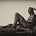 Native American Statue - Eakins Oval Philadelphia by Bill Cannon