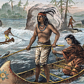 Native Americans/fishing by Granger