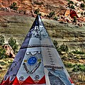 Navajo Trading Post Teepee by Tommy Anderson