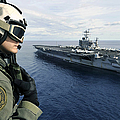 Naval Air Crewman Conducts A Visual by Stocktrek Images