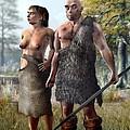Neanderthals, Artwork by Jose Antonio PeÑas