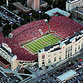 Nebraska Aerial View Of Memorial Stadium  by PRANGE Aerial Photography