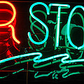 Neon Bar Stools by Steven Milner